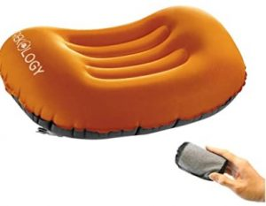 TREKOLOGY Ultralight Inflating Travel camping pillow