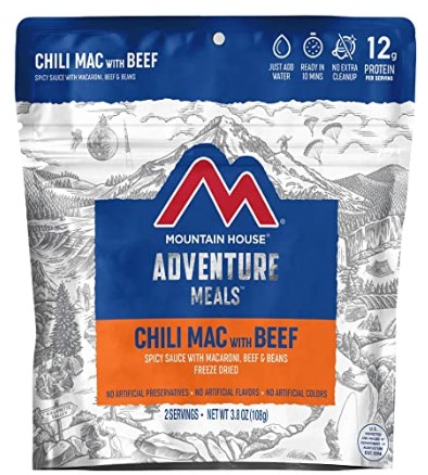 Mountain House Chili Mac with Beef Freeze-Dried Backpacking & Camping Food