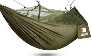 Camping Hammock with Net - Lightweight COVACURE Double Hammock