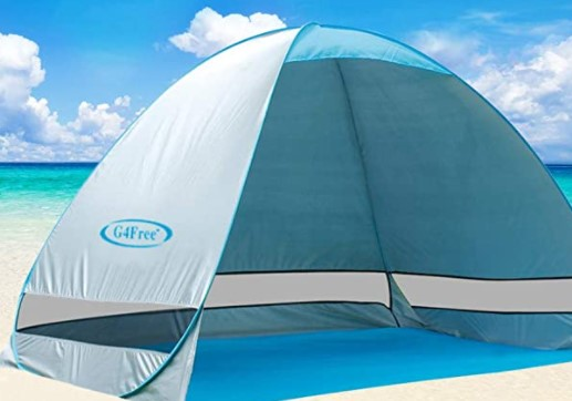 G4Free Large Pop-up Beach Tent Automatic Sun Shelter