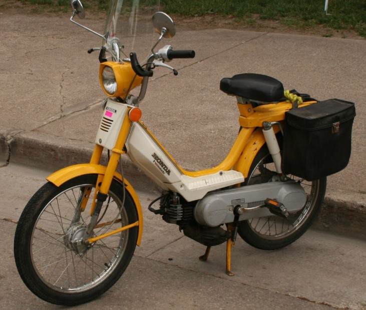a classic moped